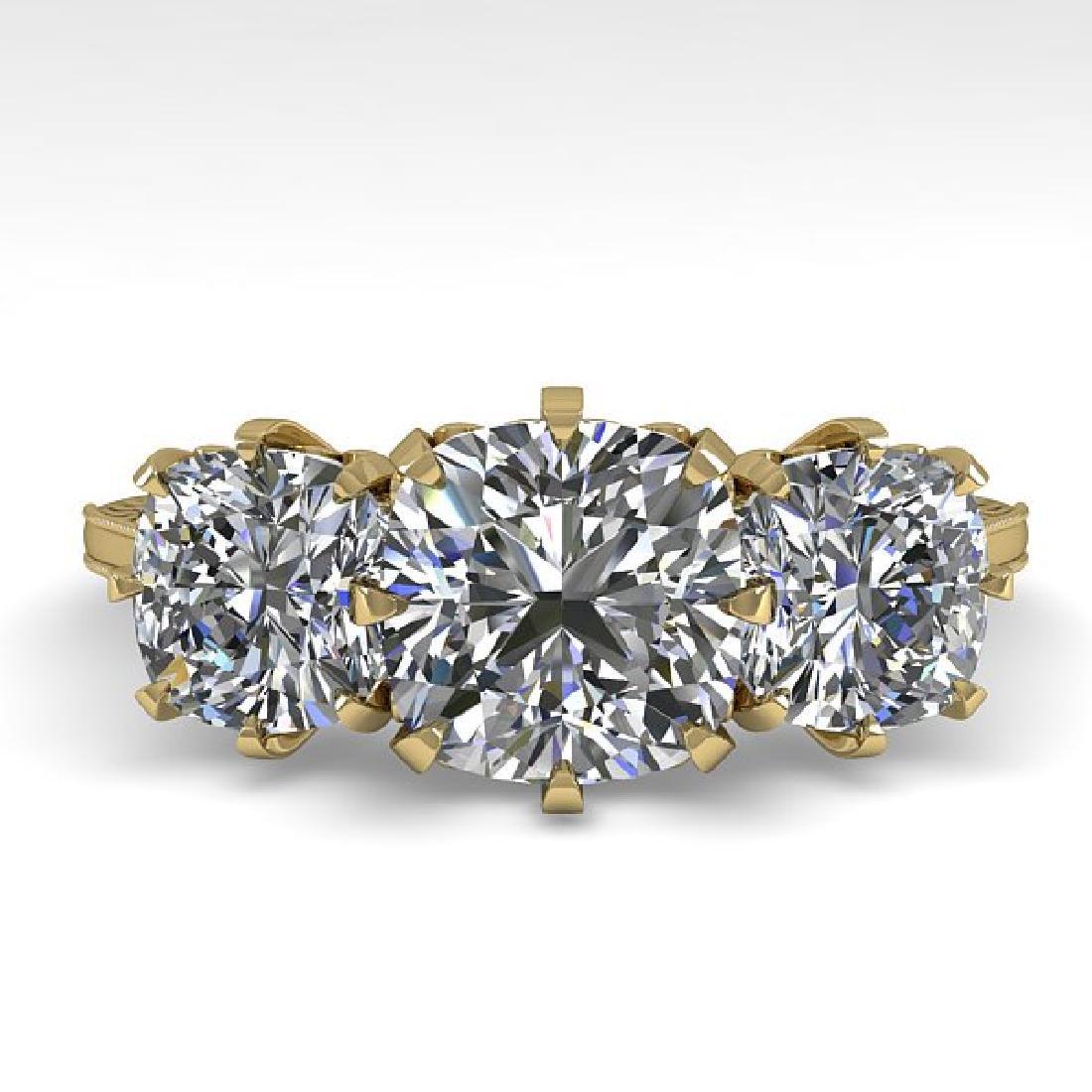 2 CTW Solitaire VS/SI Cushion Diamond 14K Yellow Gold