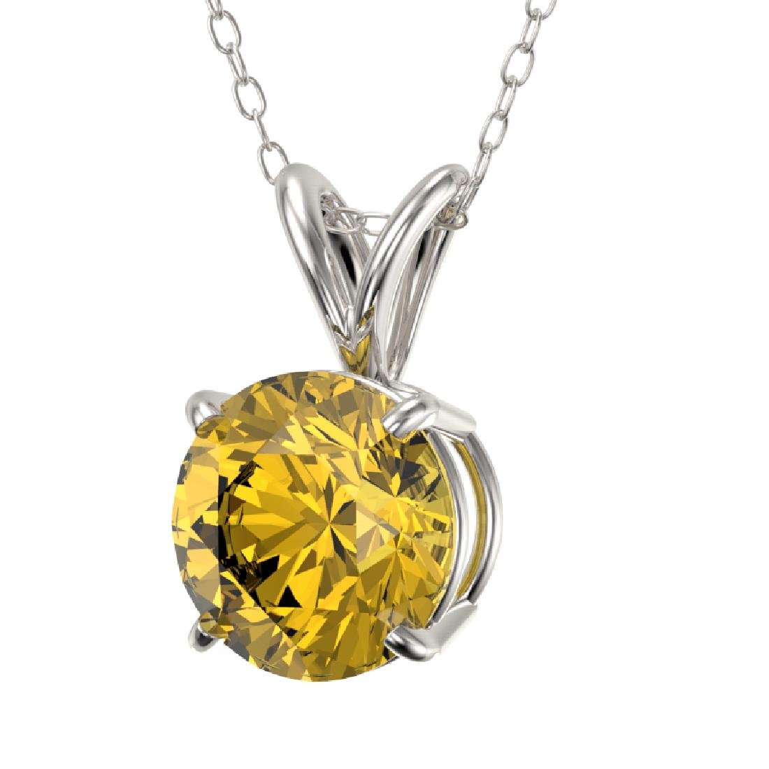 1.27 CTW Certified Intense Yellow SI Diamond Solitaire - 2
