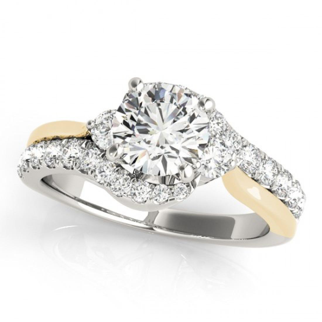 1.6 CTW Certified VS/SI Diamond Bypass Solitaire ring