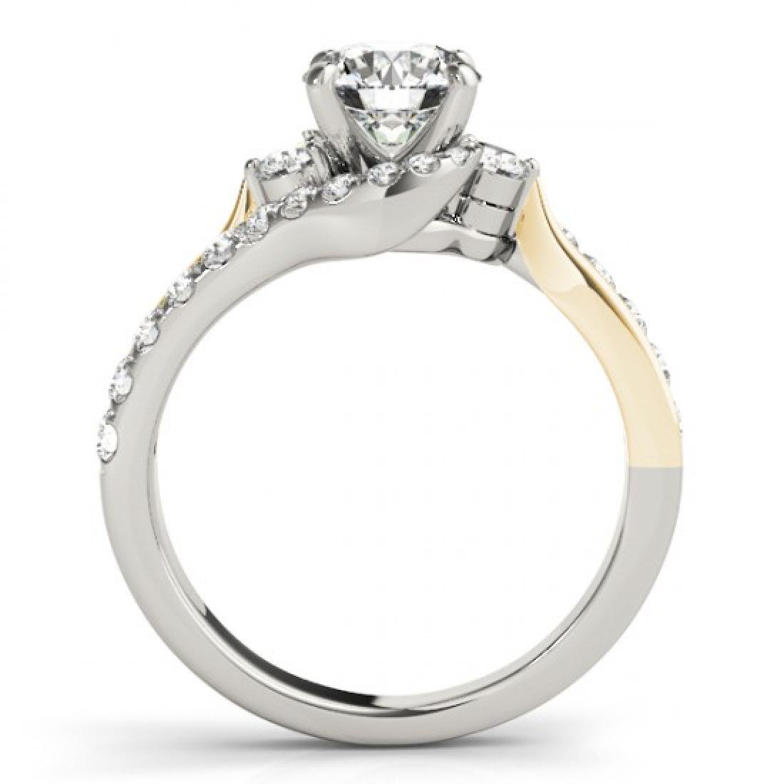 1.6 CTW Certified VS/SI Diamond Bypass Solitaire ring - 2