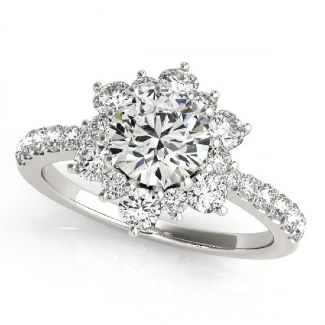 2.19 CTW Certified VS/SI Diamond Solitaire Halo Ring