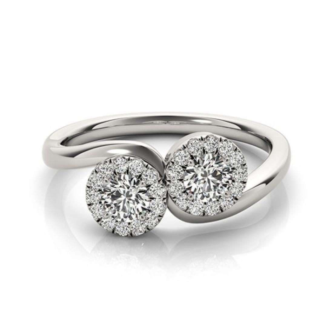 1.26 CTW Certified VS/SI Diamond 2 Stone 2 Stone Ring