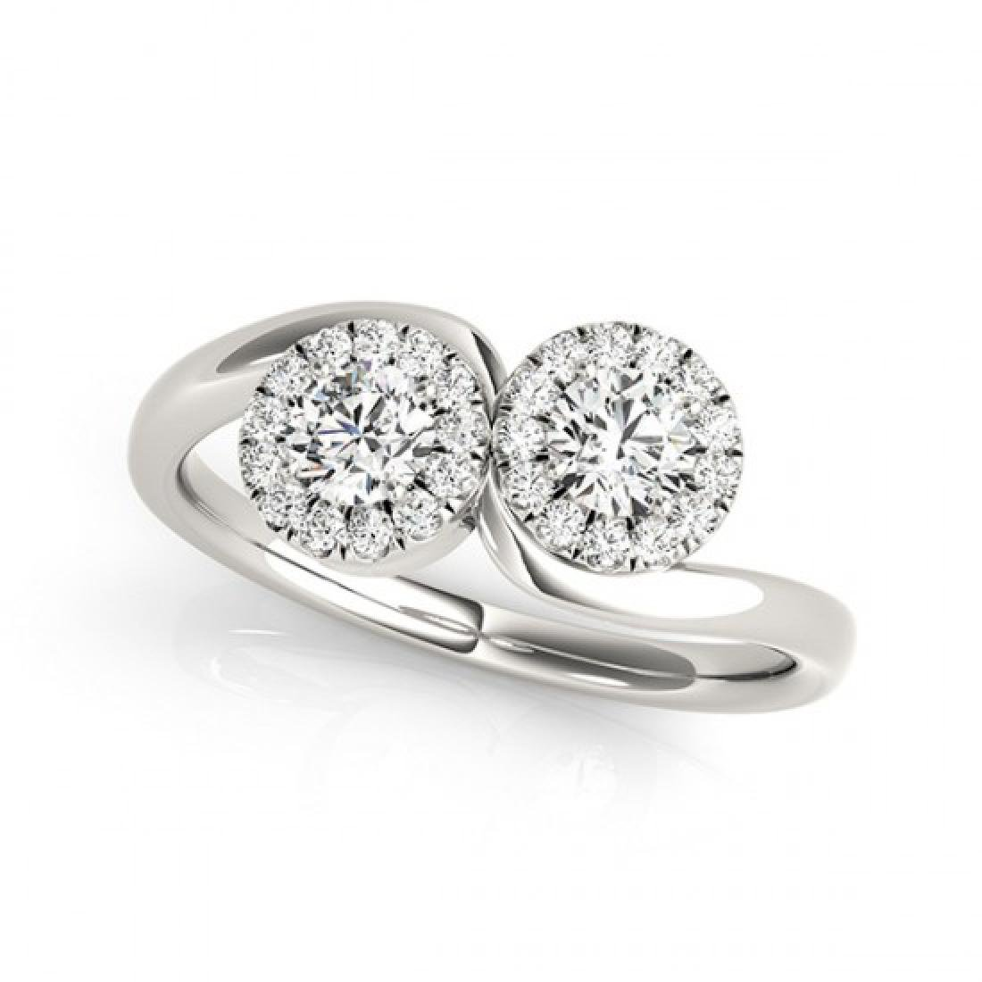 1.26 CTW Certified VS/SI Diamond 2 Stone 2 Stone Ring - 2