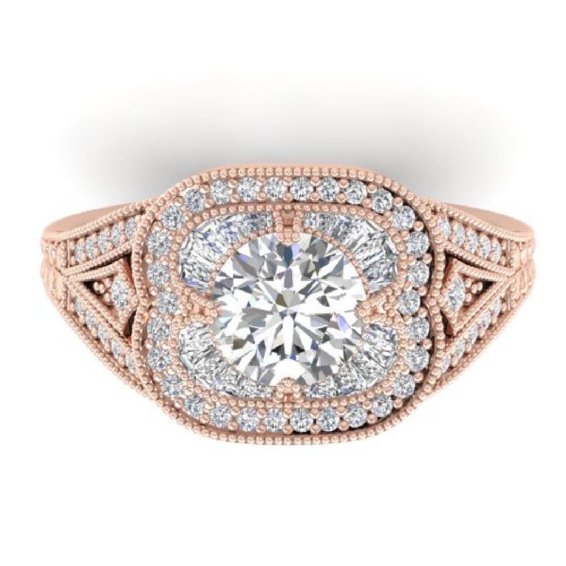 1.95 CTW Certified VS/SI Diamond Art Deco Micro Ring