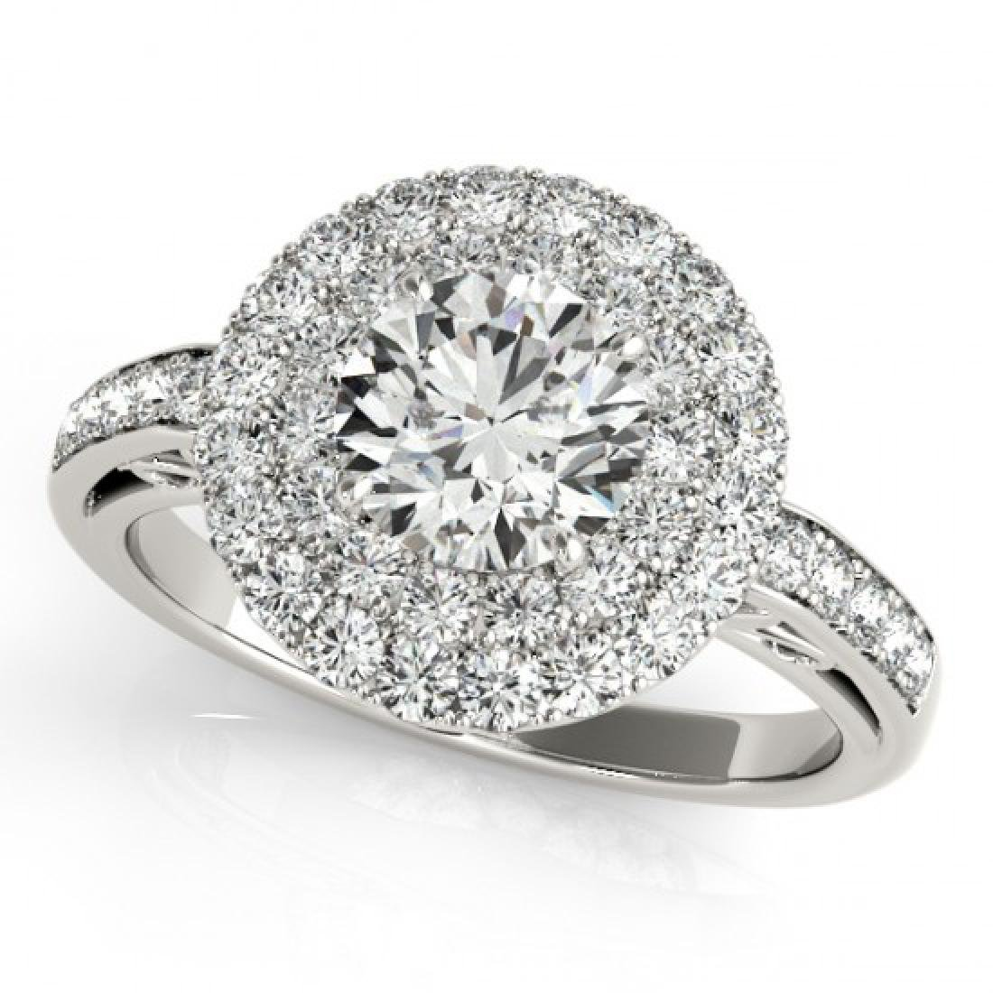 2.25 CTW Certified VS/SI Diamond Solitaire Halo Ring - 2