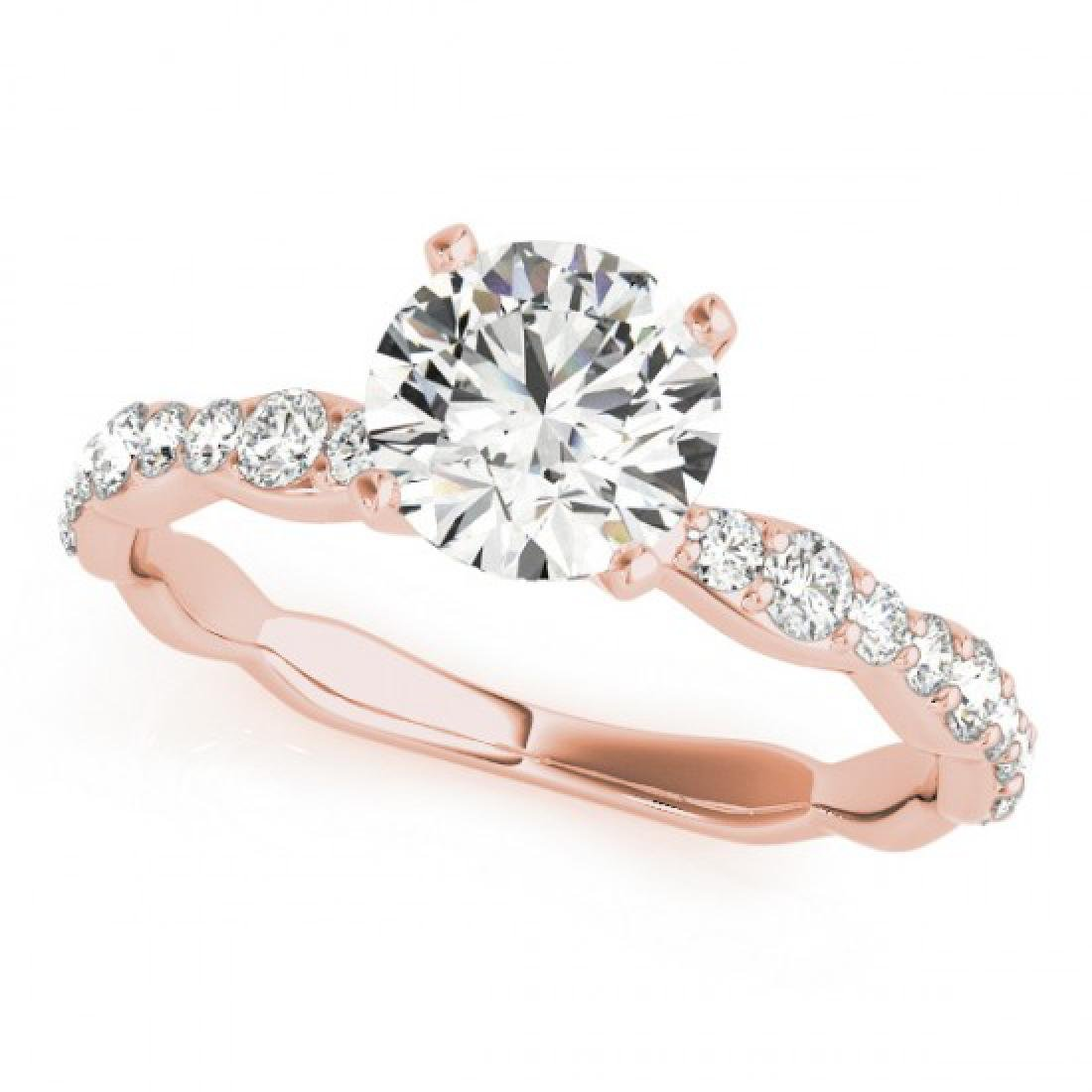 1.4 CTW Certified VS/SI Diamond Solitaire Ring 14K Rose - 2
