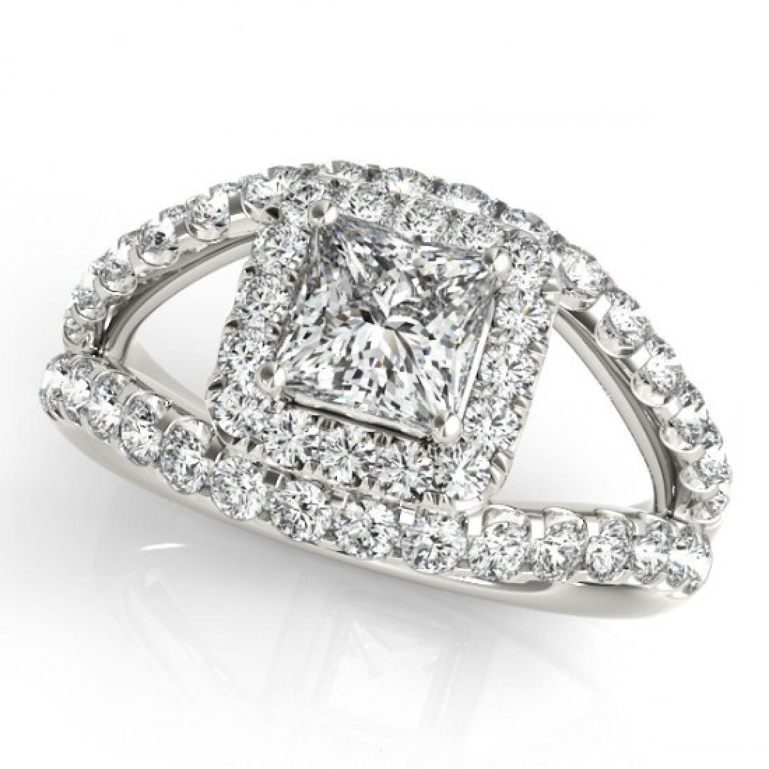 1.85 CTW Certified VS/SI Princess Diamond Solitaire - 2