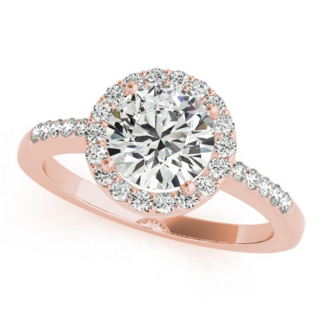 0.5 CTW Certified VS/SI Diamond Solitaire Halo Ring 14K