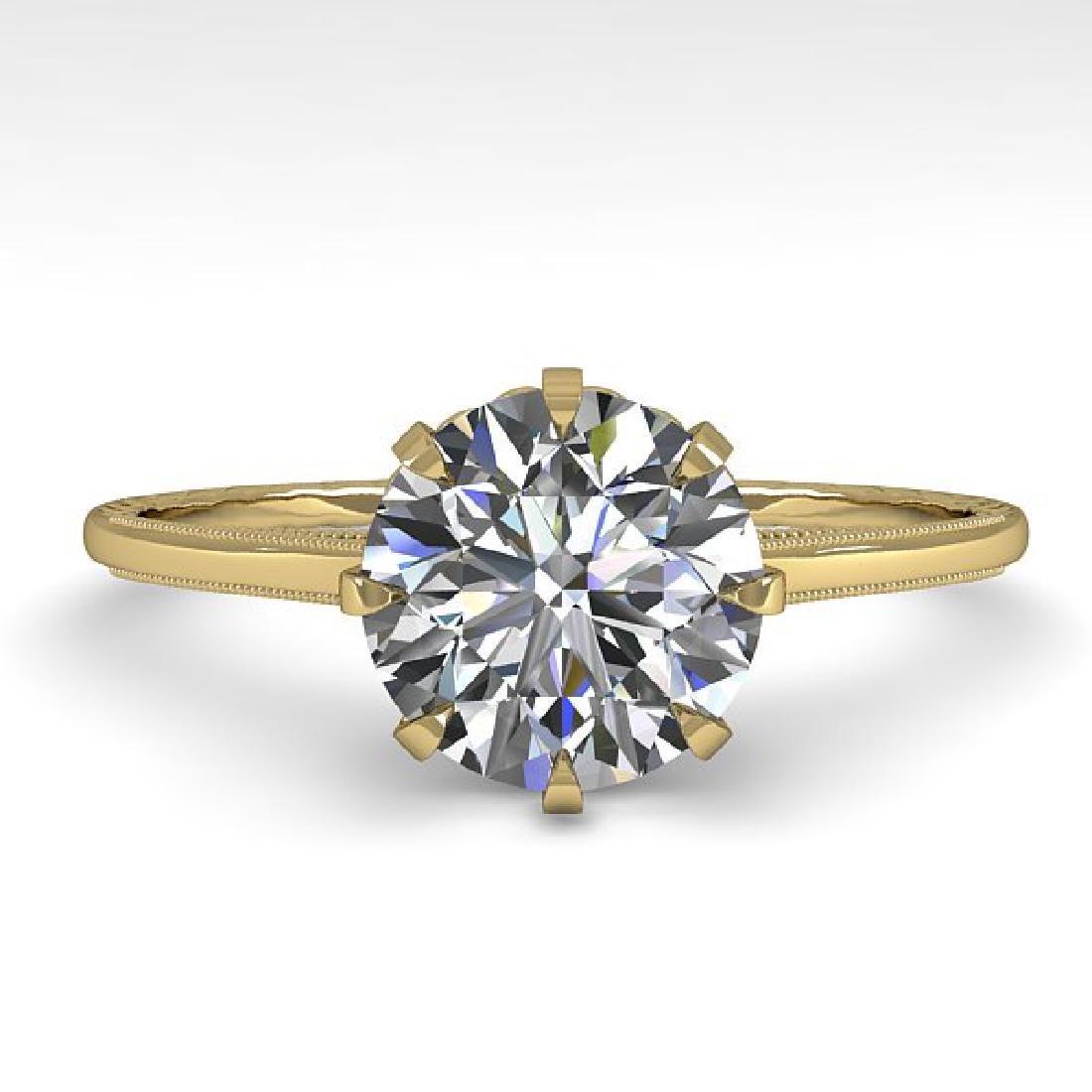 1.51 CTW Certified VS/SI Diamond Ring 14K Yellow Gold