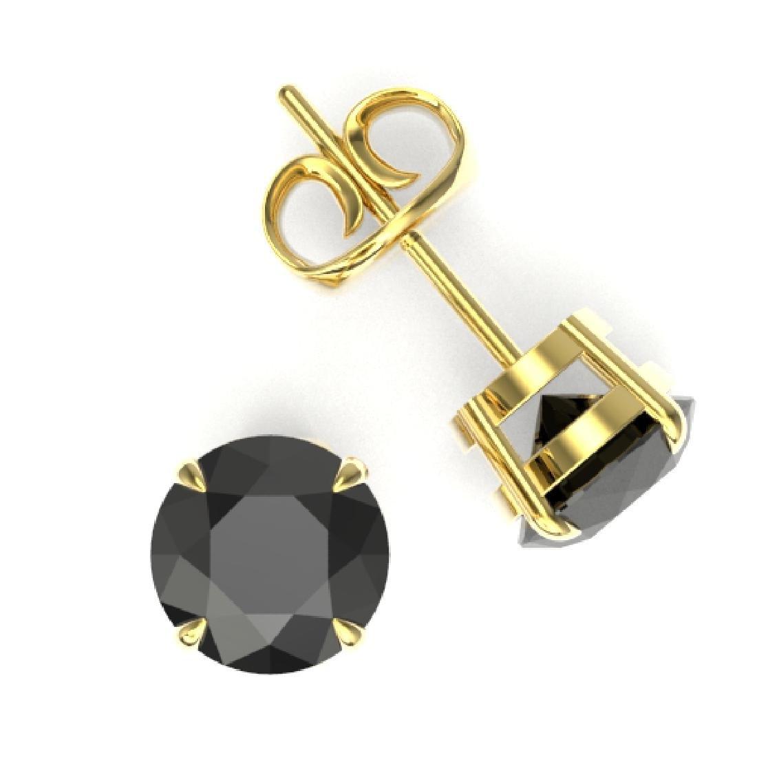 4 CTW Black VS/SI Diamond Designer Inspired Stud - 2