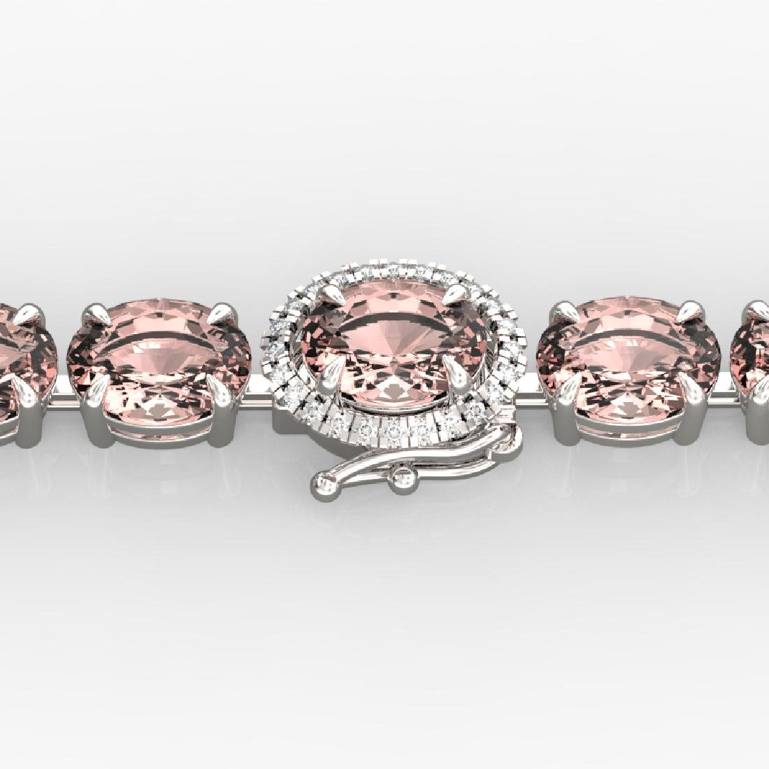 18.25 CTW Morganite & VS/SI Diamond Eternity Micro Halo