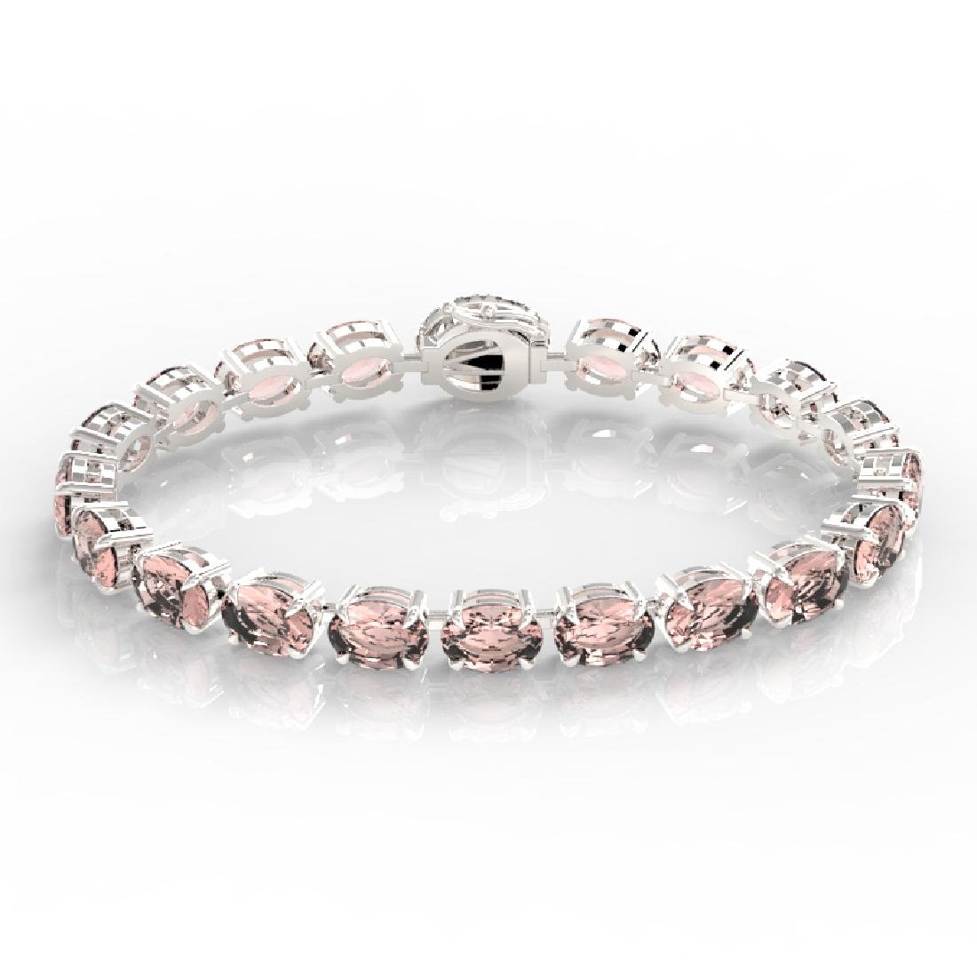18.25 CTW Morganite & VS/SI Diamond Eternity Micro Halo - 2