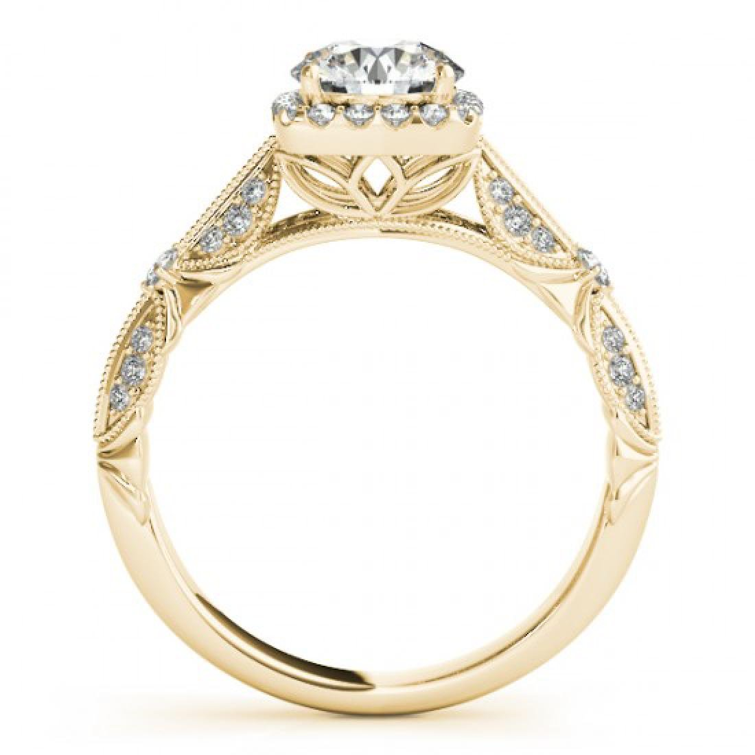 1.36 CTW Certified VS/SI Diamond Solitaire Halo Ring - 2