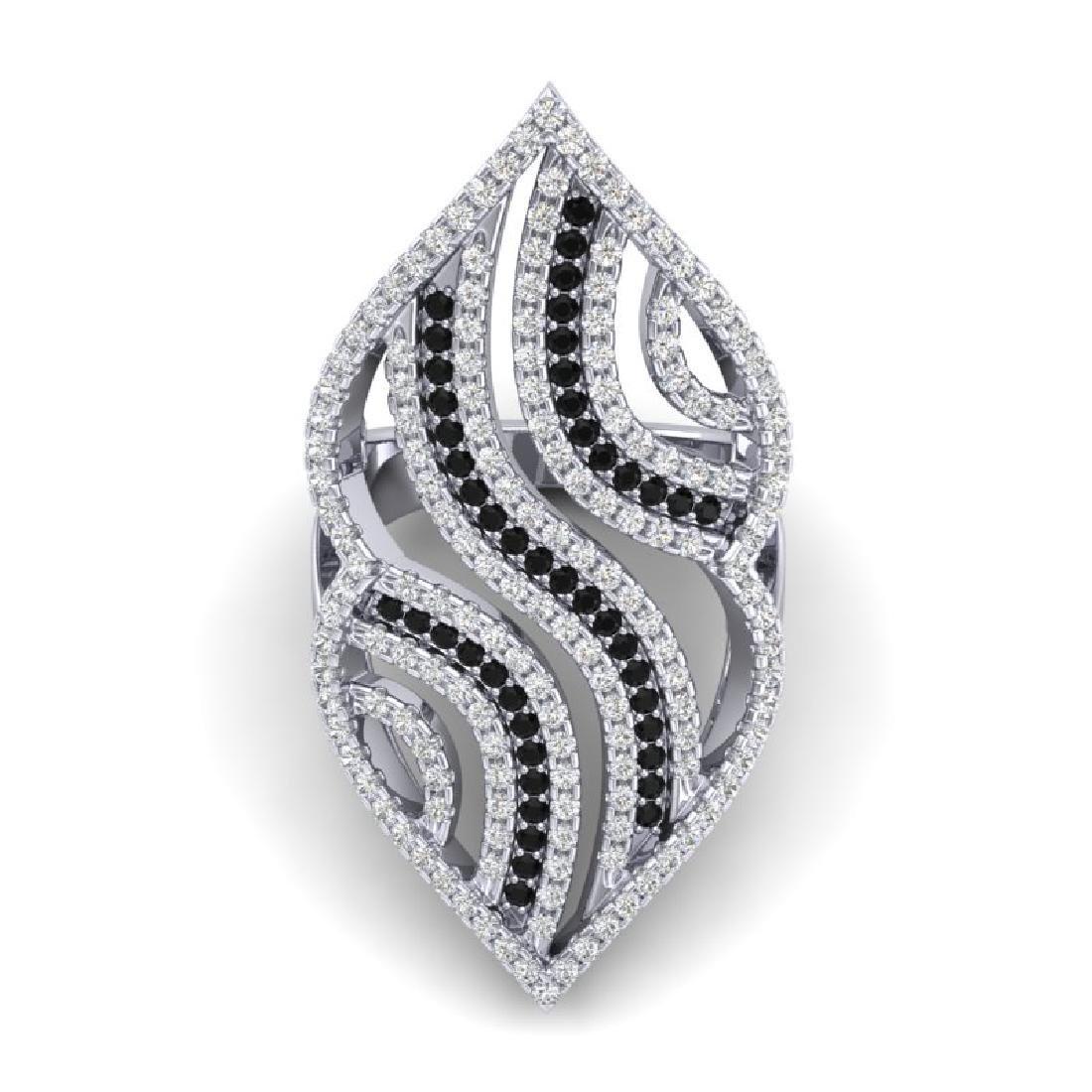 2 CTW Micro Pave Black & White VS/SI Diamond Designer - 2