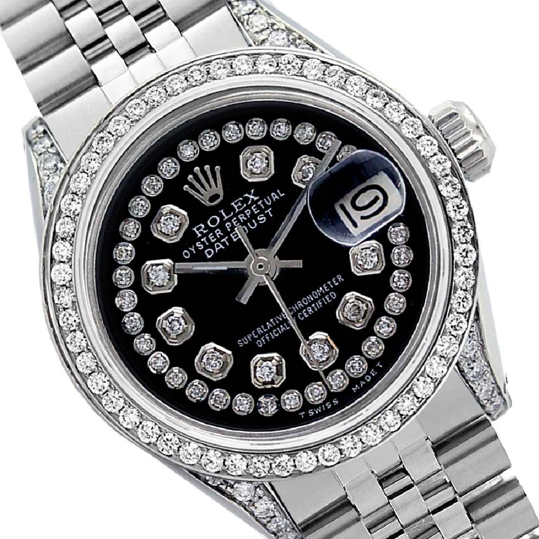 Rolex Men's Stainless Steel, QuickSet, Diamond Dial &