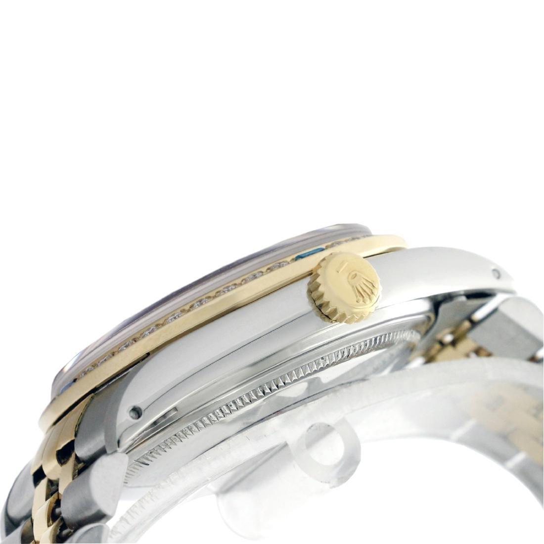 Rolex Ladies Two Tone, Diam Dial & Diam/Sapphire Bezel, - 3