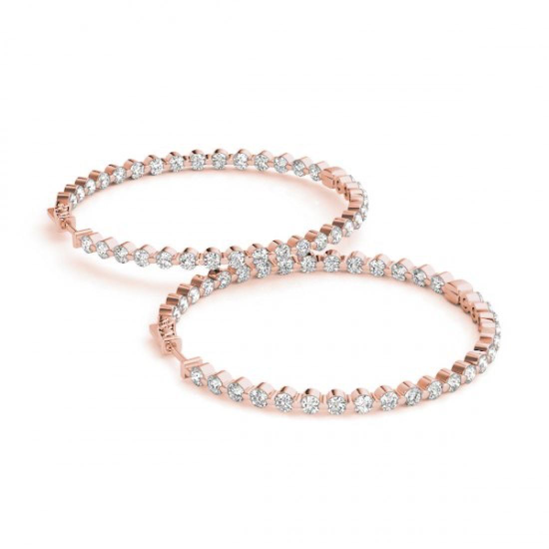 4.25 CTW Diamond VS/SI Certified 50 Mm Hoop Earrings