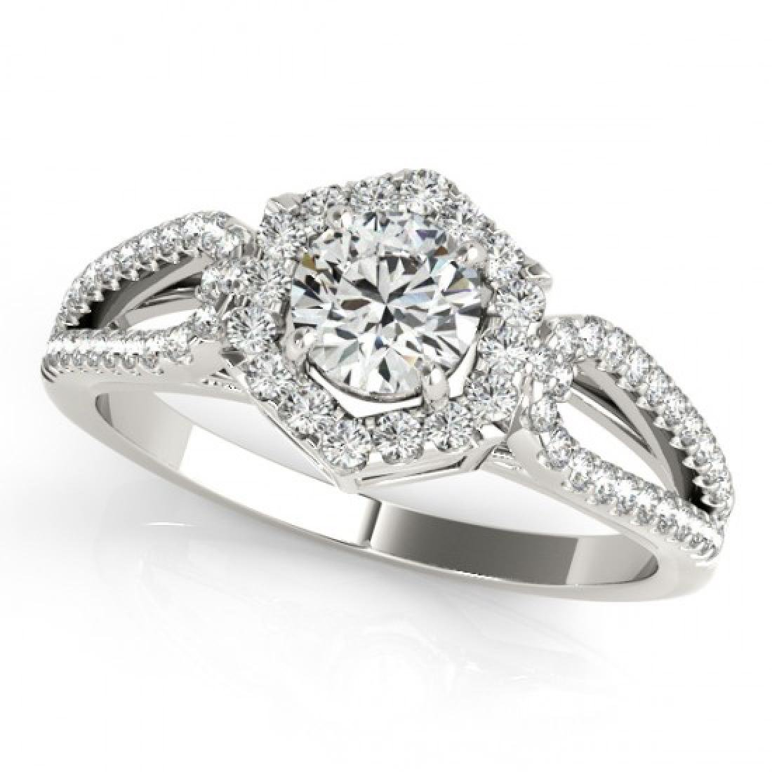 1.18 CTW Certified VS/SI Diamond Solitaire Halo Ring