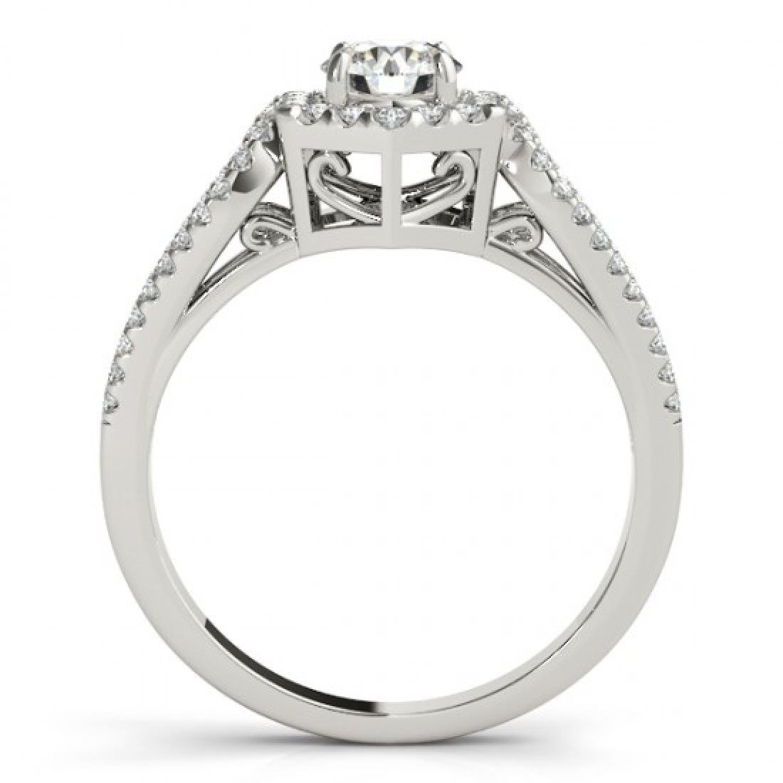 1.18 CTW Certified VS/SI Diamond Solitaire Halo Ring - 2