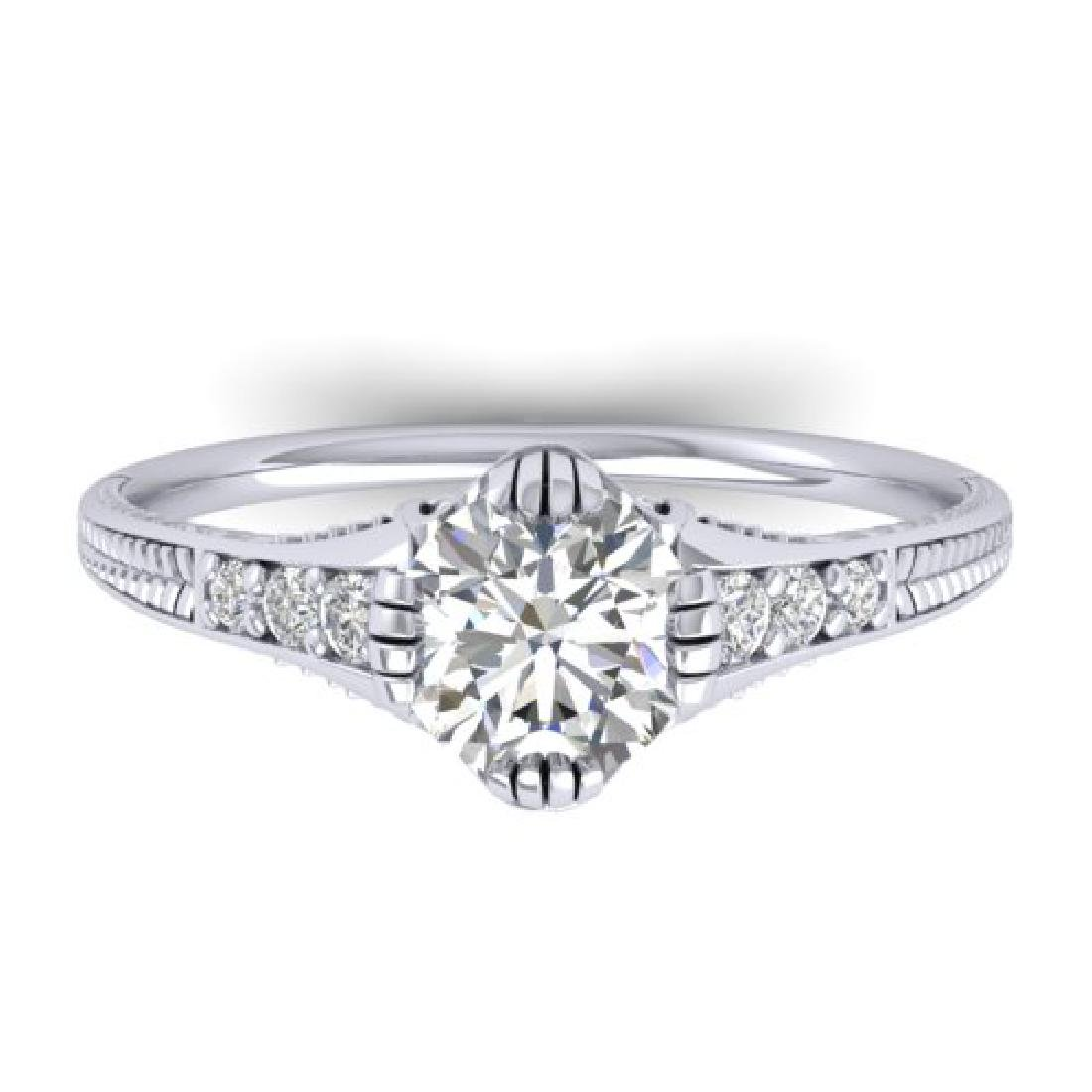 1.25 CTW Certified VS/SI Diamond Solitaire Art Deco