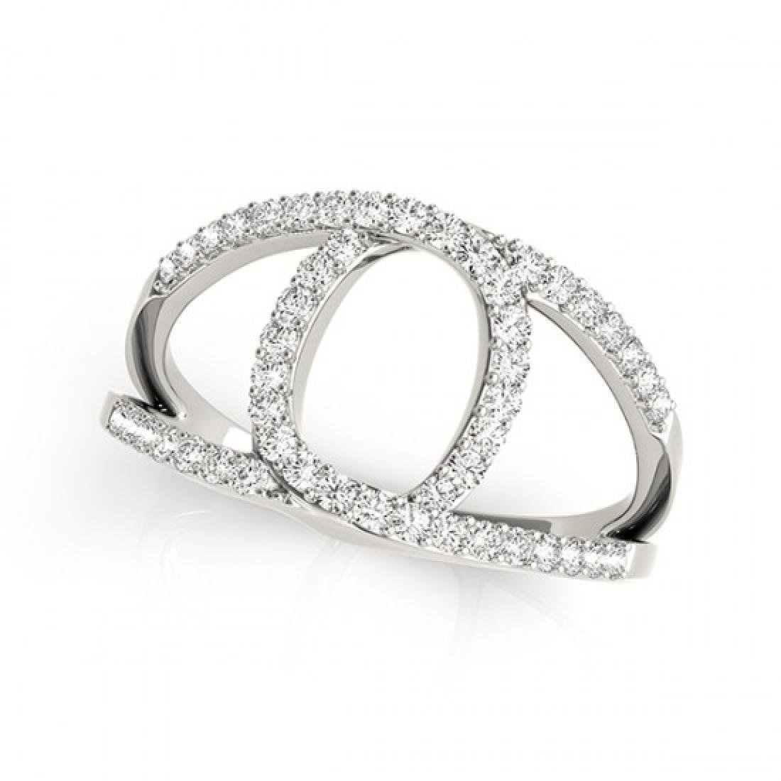0.65 CTW Certified VS/SI Diamond Fashion Ring 14K White - 2