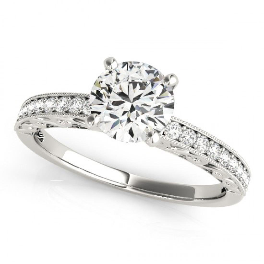 1.18 CTW Certified VS/SI Diamond Solitaire Antique Ring