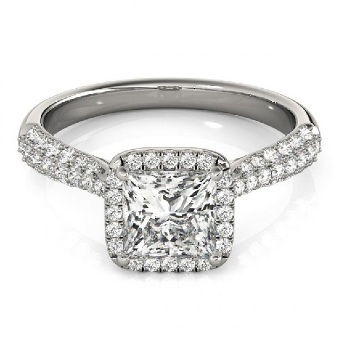 1.15 CTW Certified VS/SI Princess Diamond Solitaire