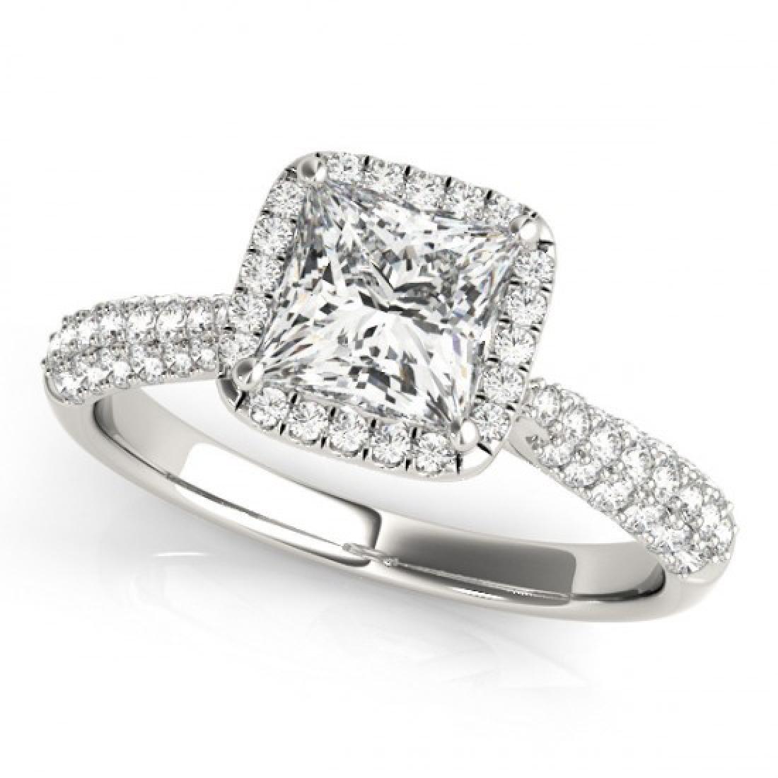 1.15 CTW Certified VS/SI Princess Diamond Solitaire - 2
