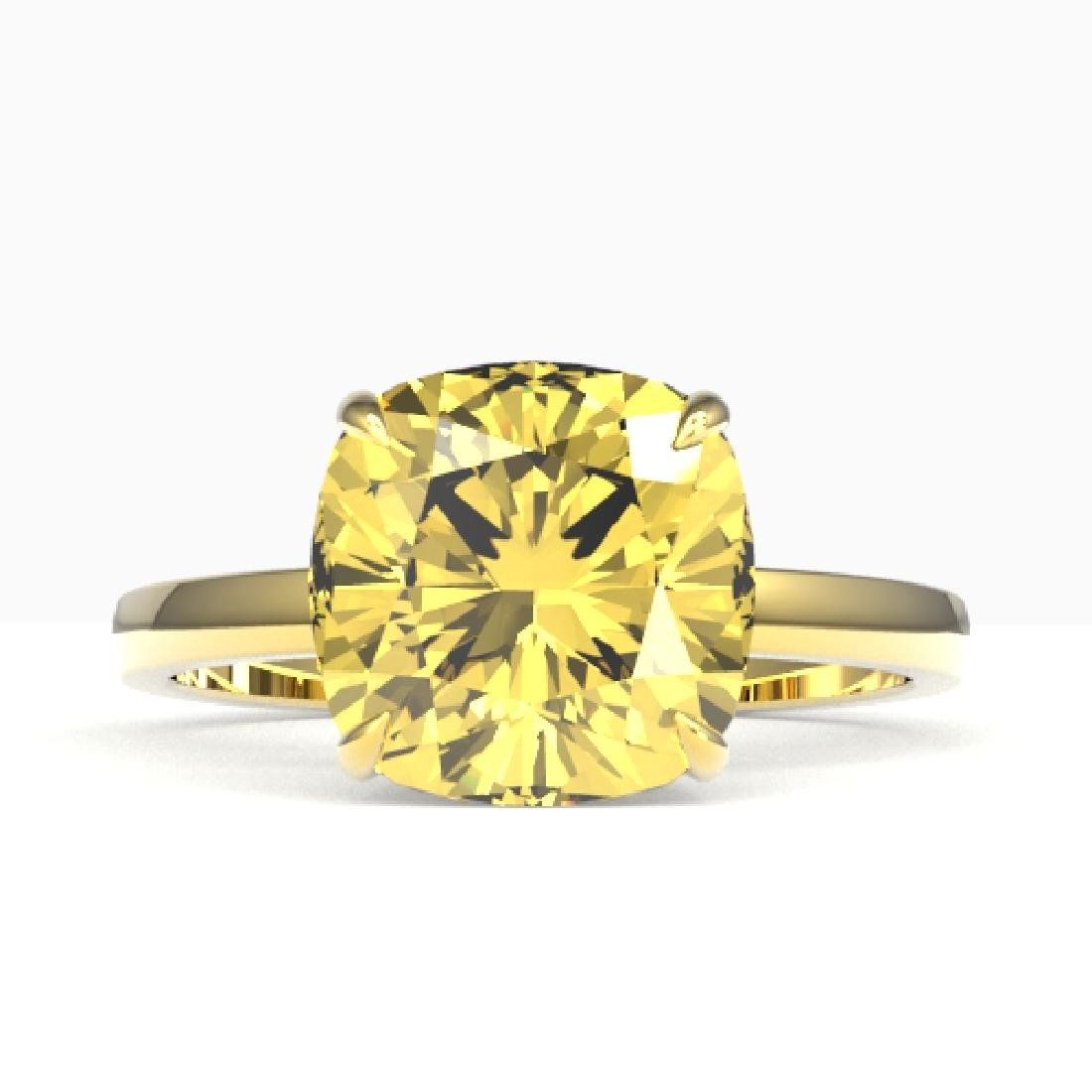 6 CTW Cushion Cut Citrine Designer Inspired Engagement