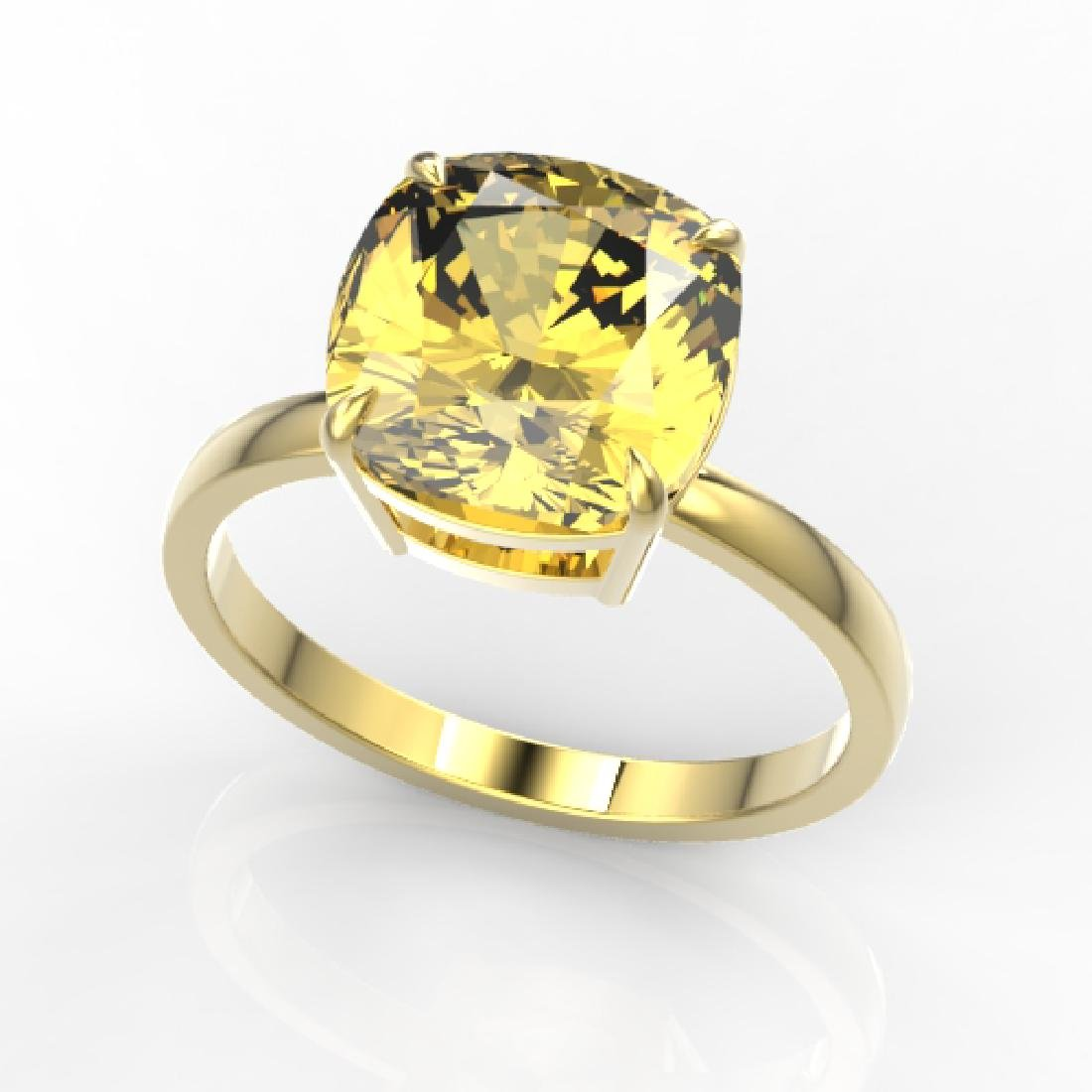 6 CTW Cushion Cut Citrine Designer Inspired Engagement - 2