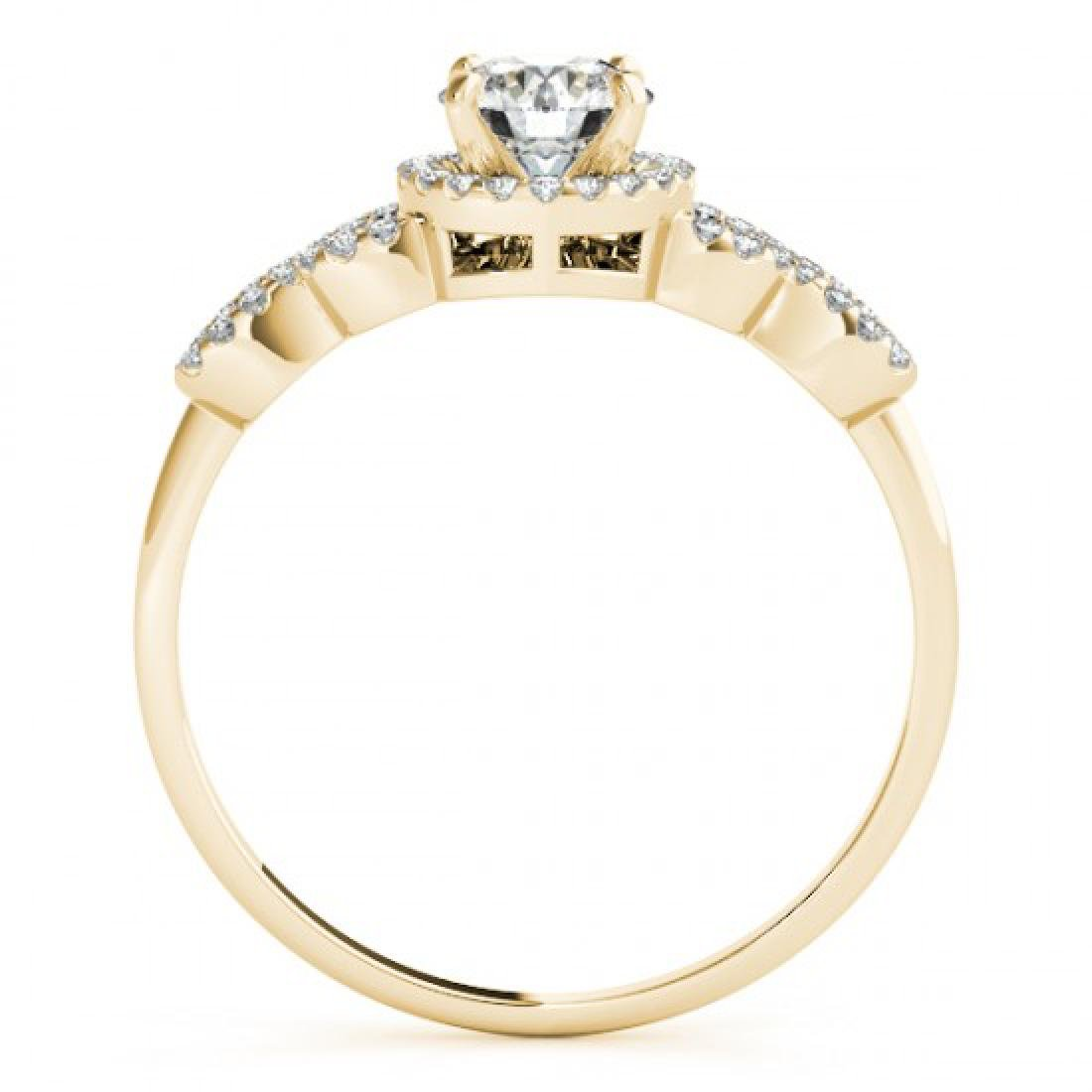 1.08 CTW Certified VS/SI Diamond Solitaire Ring 14K - 2