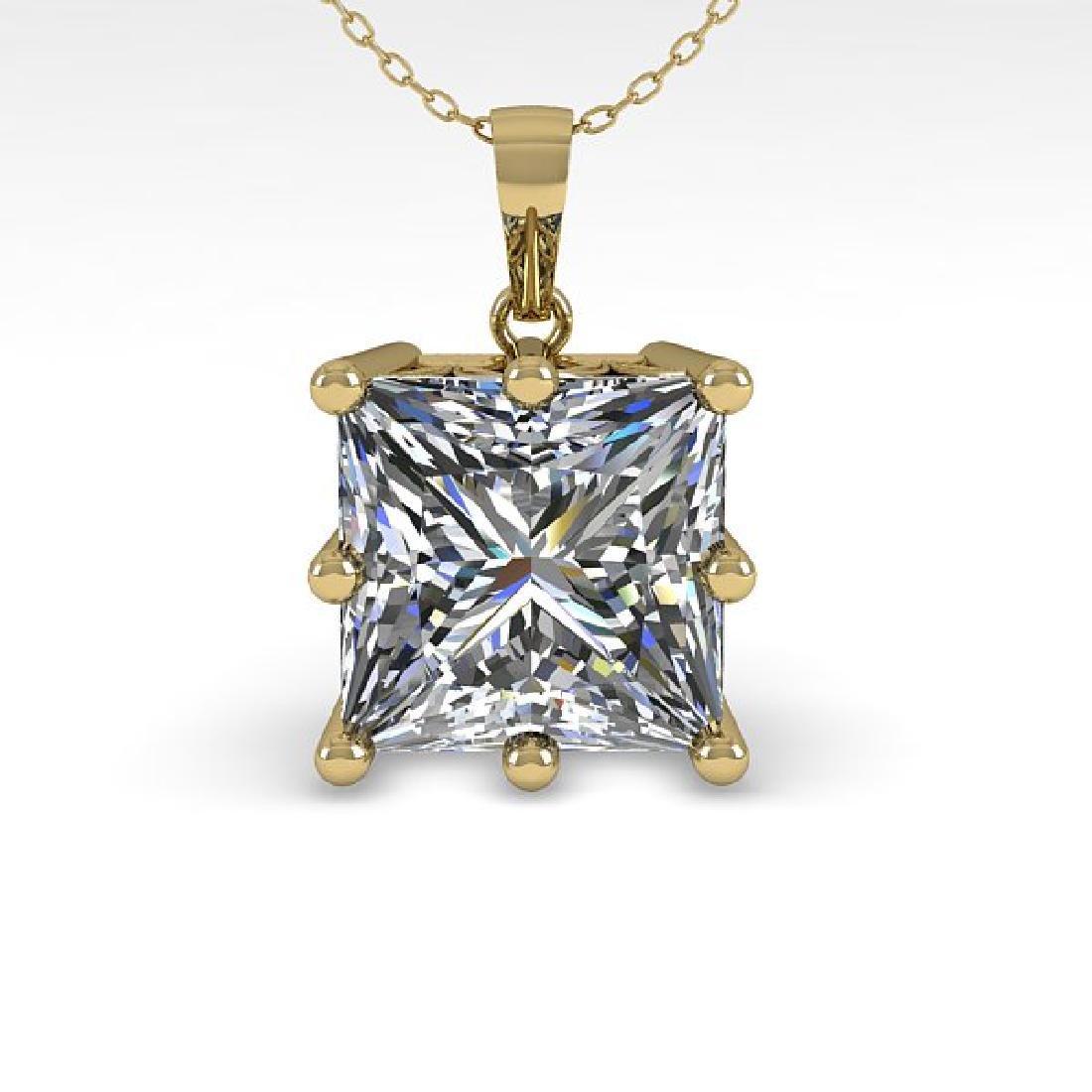 1 CTW Certified VS/SI Princess Diamond Art Deco - 2