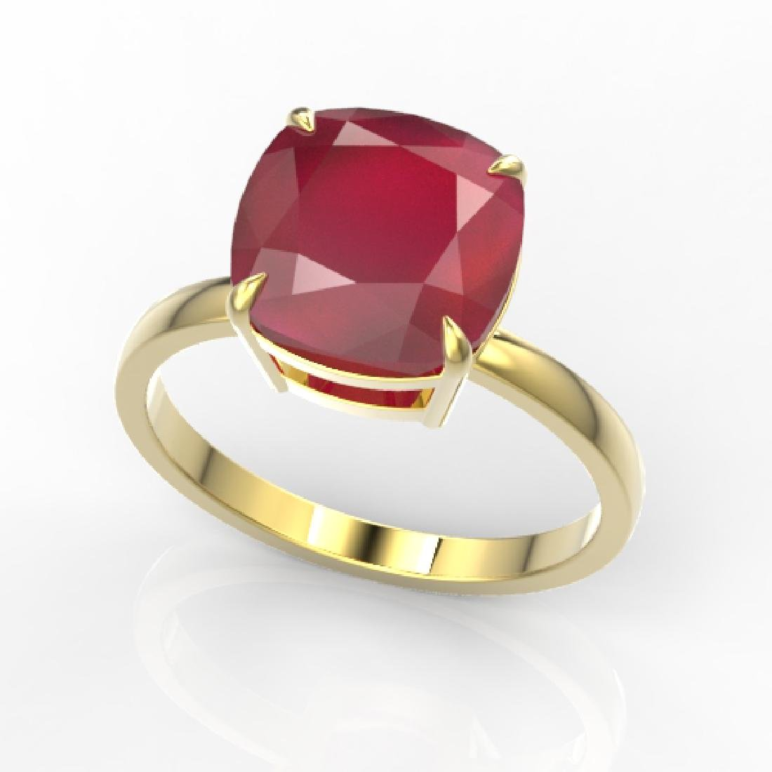 6 CTW Ruby Designer Inspired Solitaire Engagement Ring - 2