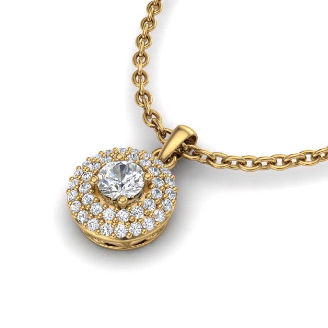 0.60 CTW Micro Pave VS/SI Diamond Designer Necklace 18K - 2