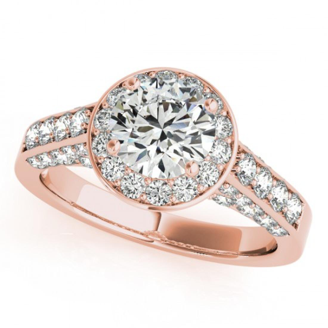 2.56 CTW Certified VS/SI Diamond Solitaire Halo Ring - 2