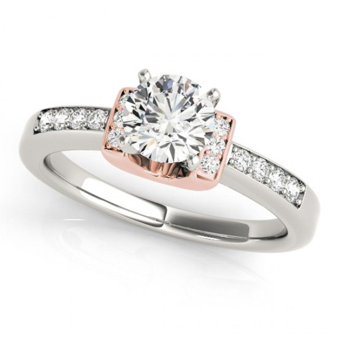 0.61 CTW Certified VS/SI Diamond Solitaire Ring 14K