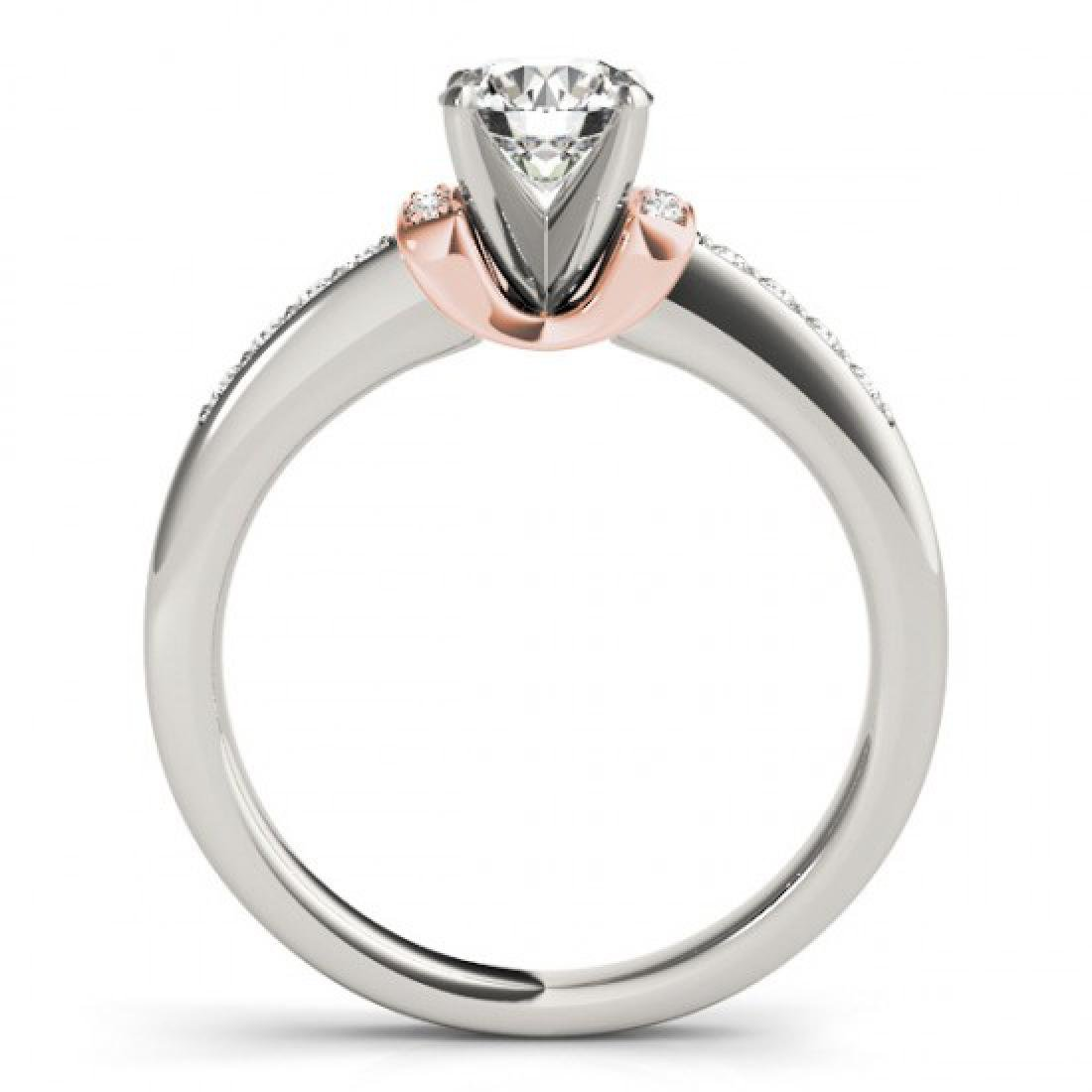 0.61 CTW Certified VS/SI Diamond Solitaire Ring 14K - 2