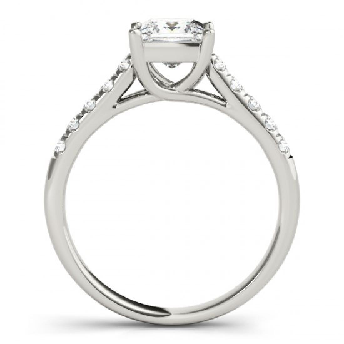 0.85 CTW Certified VS/SI Princess Diamond Ring 14K - 2