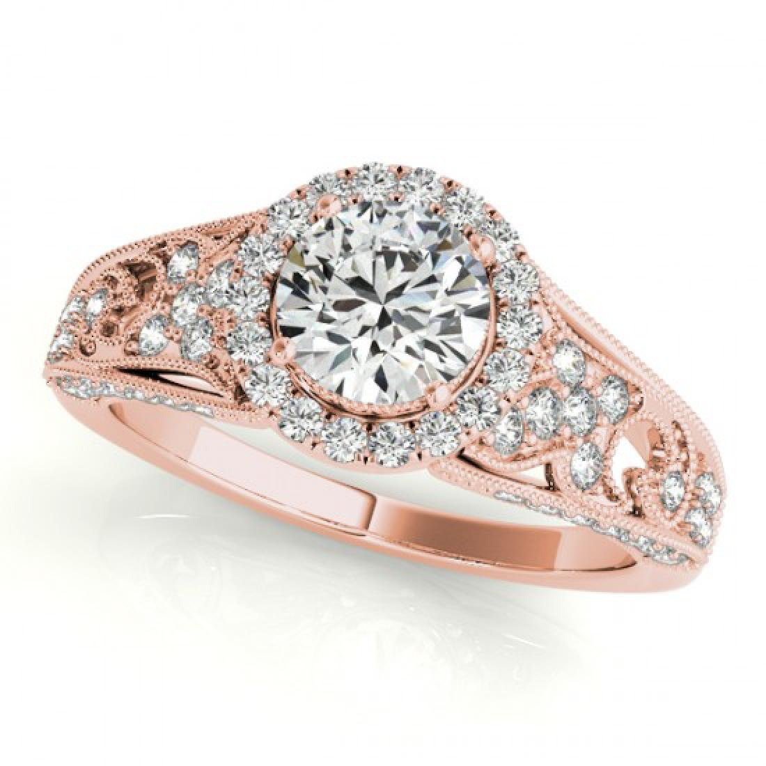 1.25 CTW Certified VS/SI Diamond Solitaire Halo Ring - 2