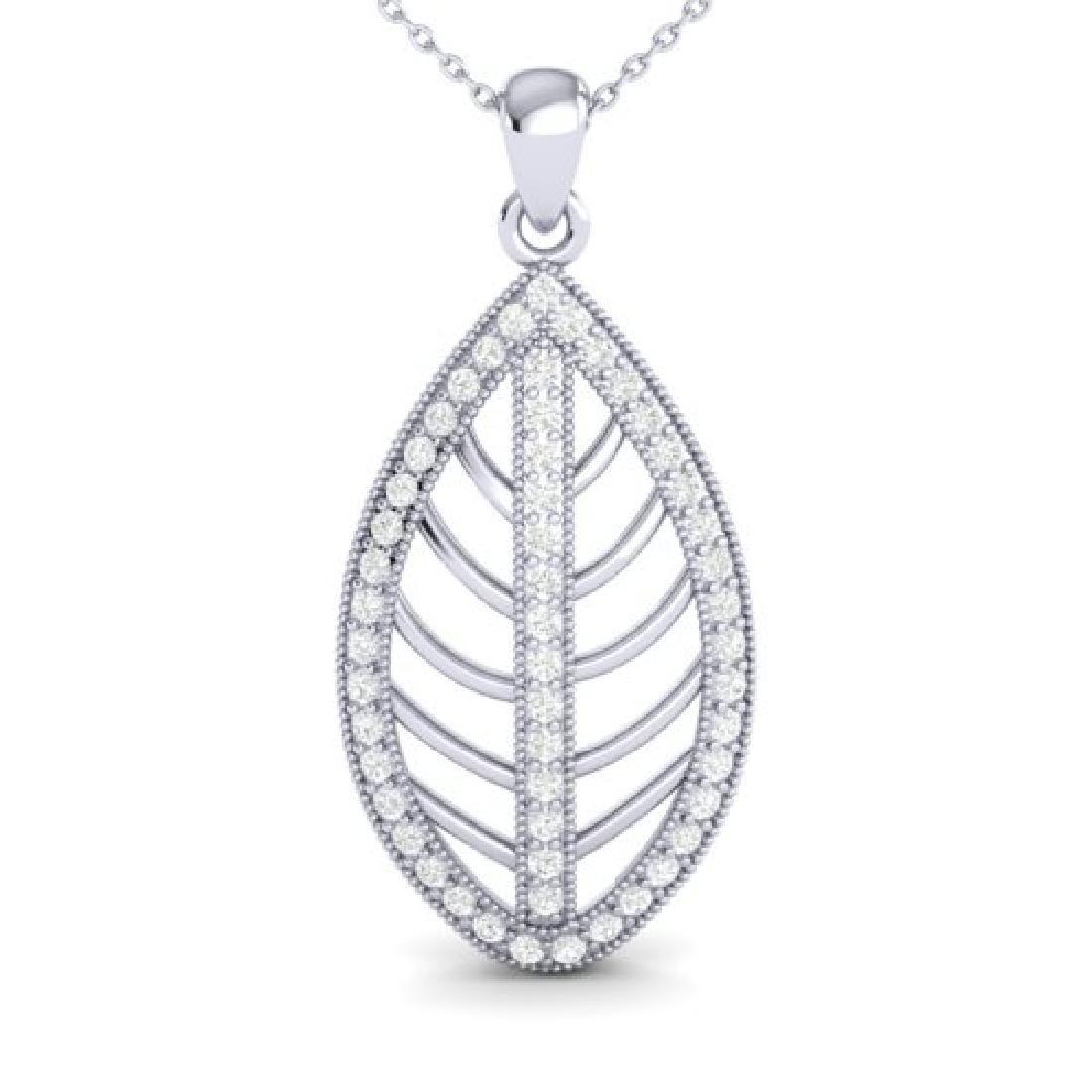 1 CTW Micro Pave VS/SI Diamond Designer Necklace 18K