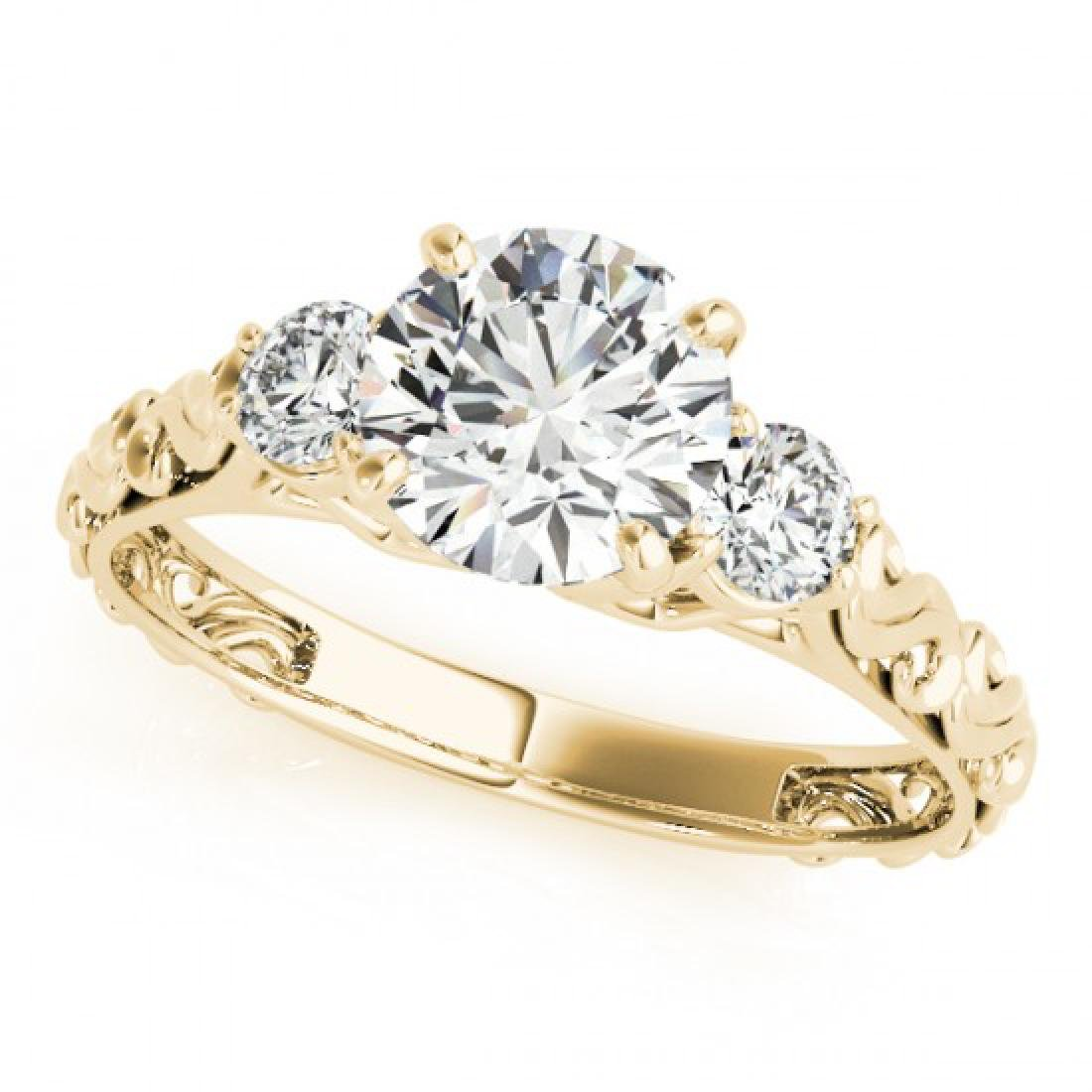 0.75 CTW Certified VS/SI Diamond 3 Stone Ring 14K