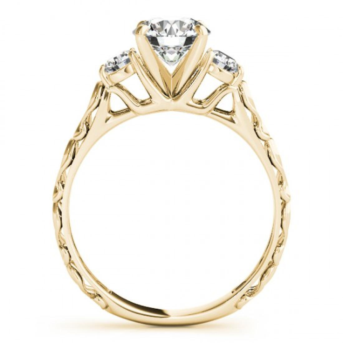 0.75 CTW Certified VS/SI Diamond 3 Stone Ring 14K - 2