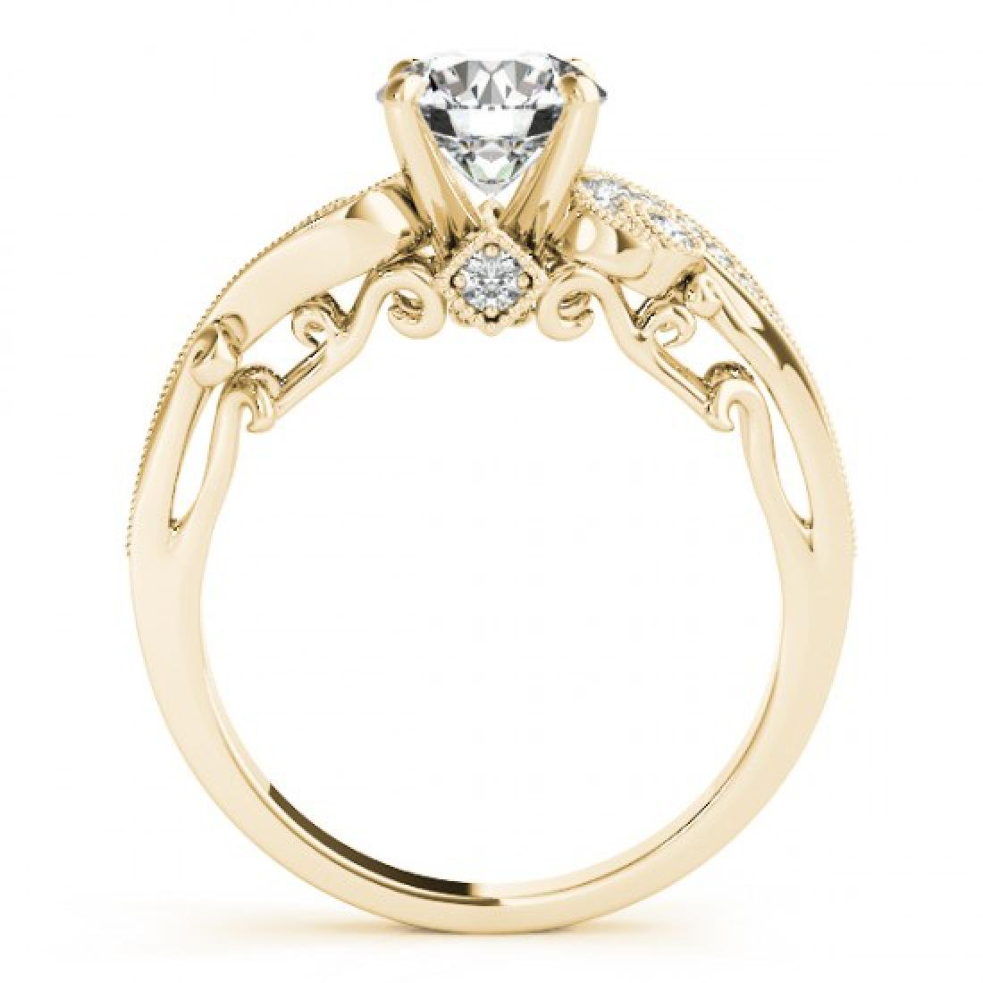1 CTW Certified VS/SI Diamond Solitaire Antique Ring - 2