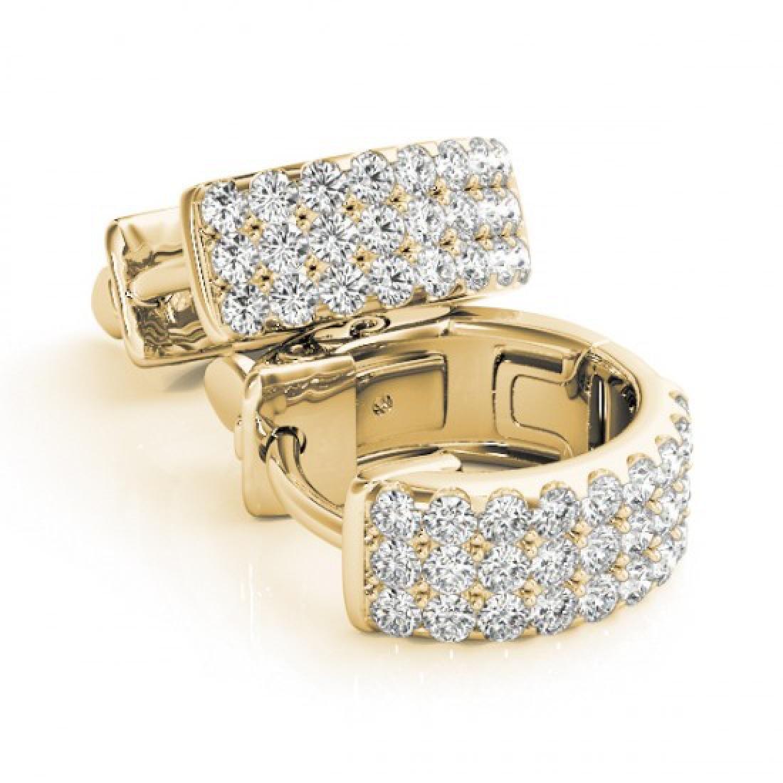 0.70 CTW Diamond VS/SI Certified 16 Mm Hoop Earrings