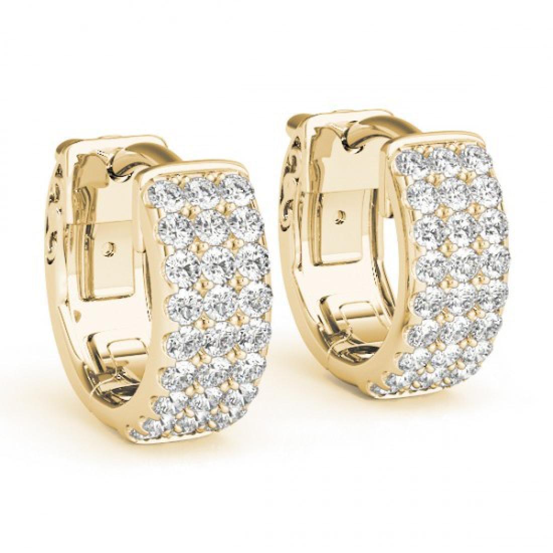 0.70 CTW Diamond VS/SI Certified 16 Mm Hoop Earrings - 2