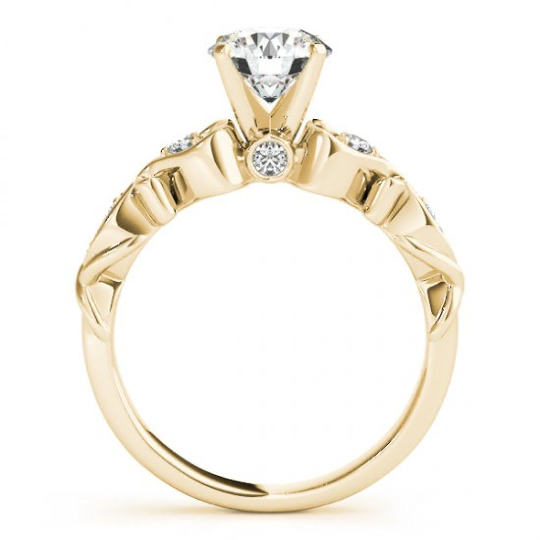 1.15 CTW Certified VS/SI Diamond Solitaire Antique Ring - 2