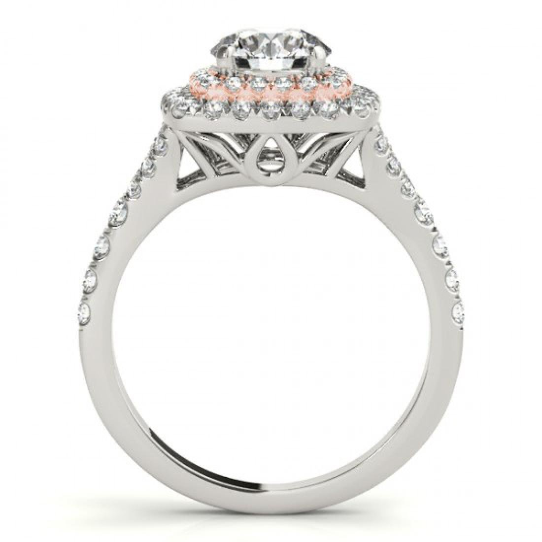 1.04 CTW Certified VS/SI Diamond Solitaire Halo Ring - 2