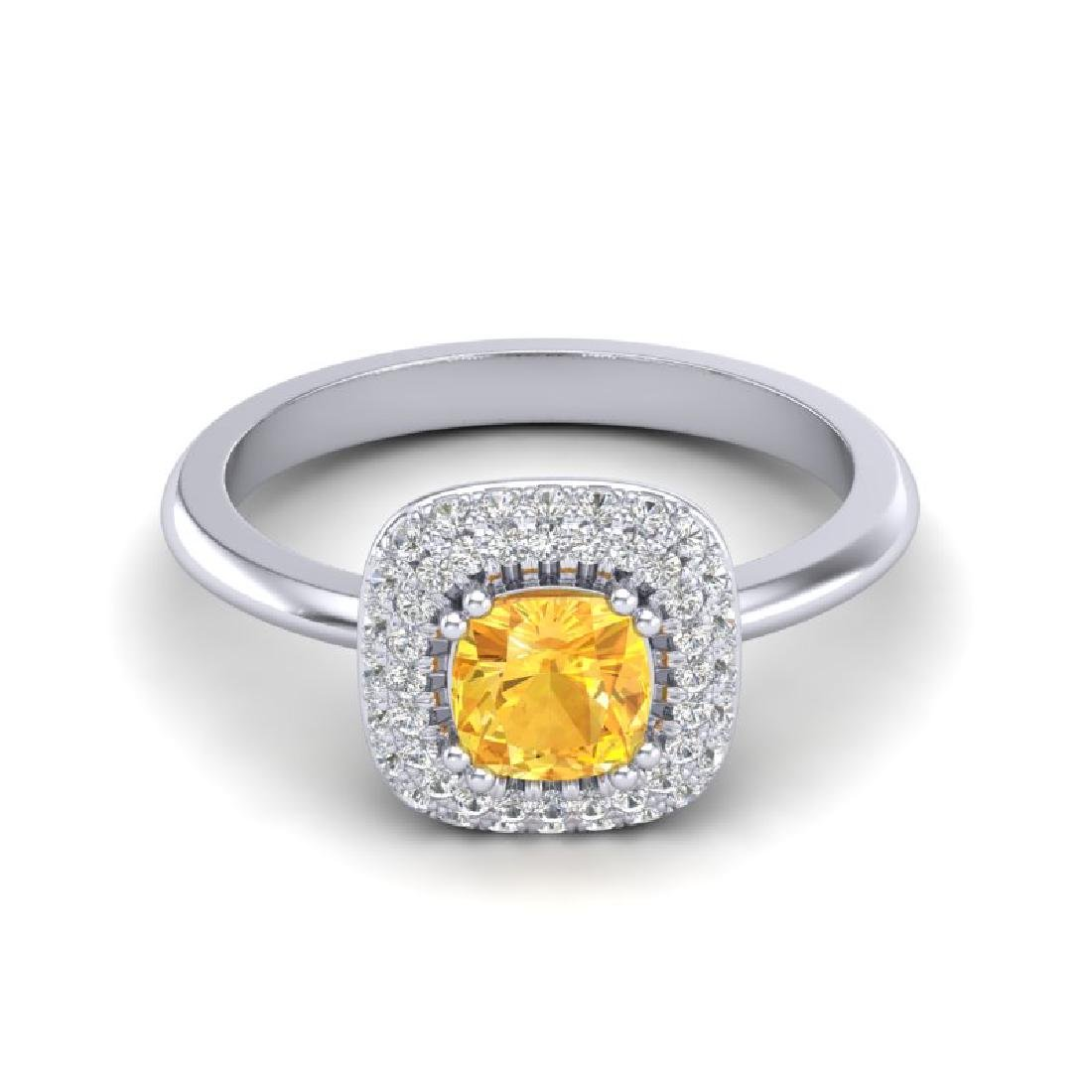 1.16 CTW Citrine & Micro VS/SI Diamond Ring Solitaire