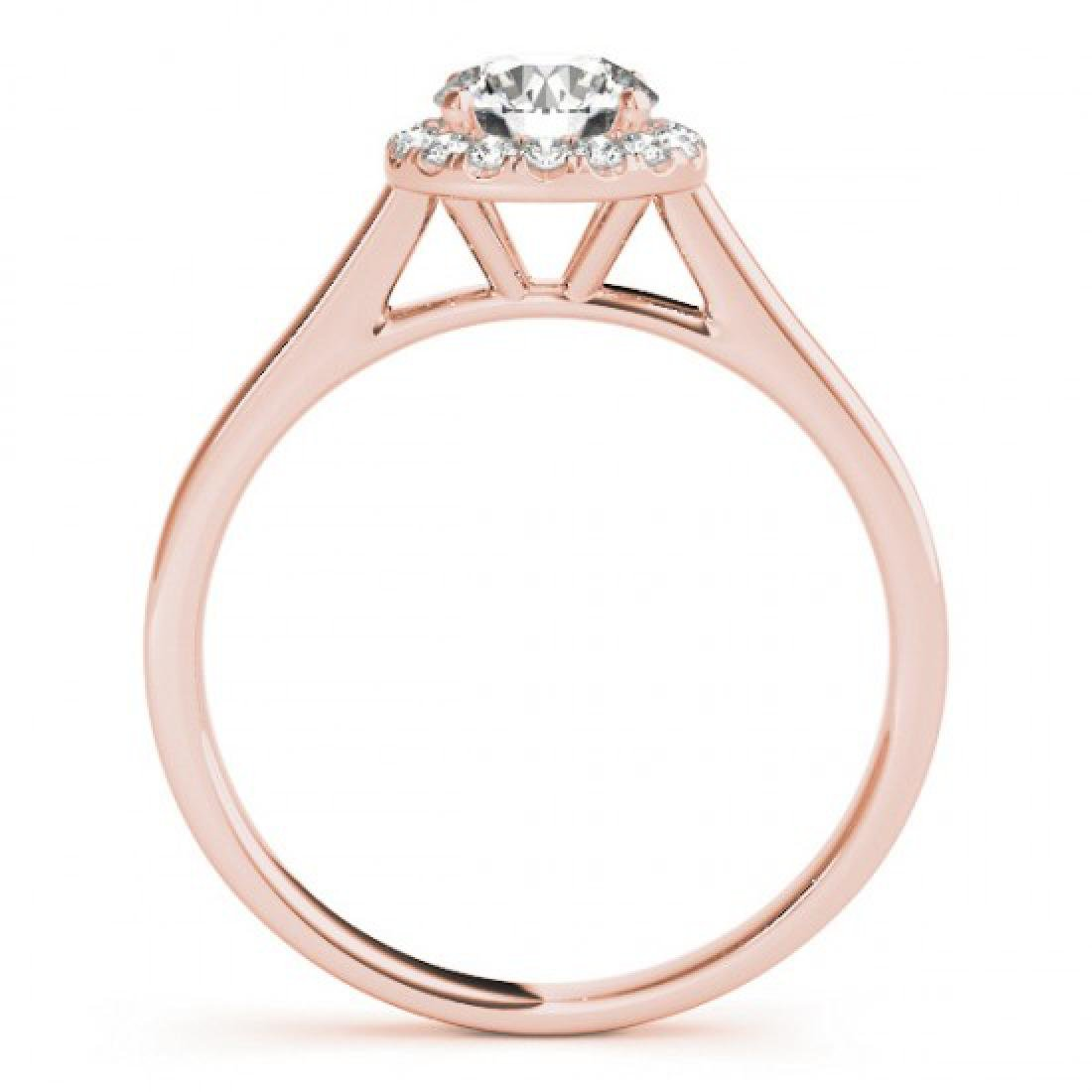 0.58 CTW Certified VS/SI Diamond Solitaire Halo Ring - 2