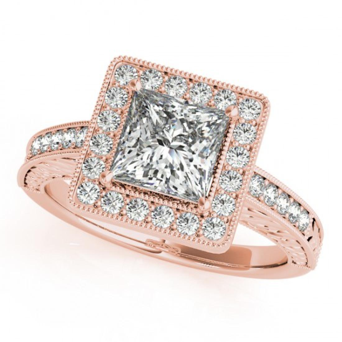 1.05 CTW Certified VS/SI Princess Diamond Solitaire - 2